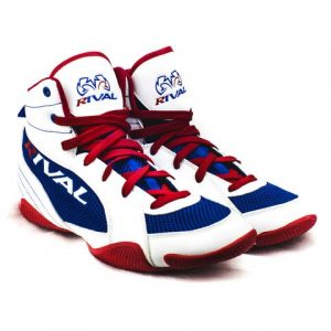 rsx-guerrero_white-blue-red boxing shoe
