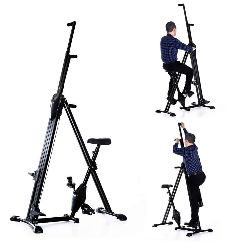 Homcom Vertical Climber Exercise Bike Stepper Cardio Home Gym