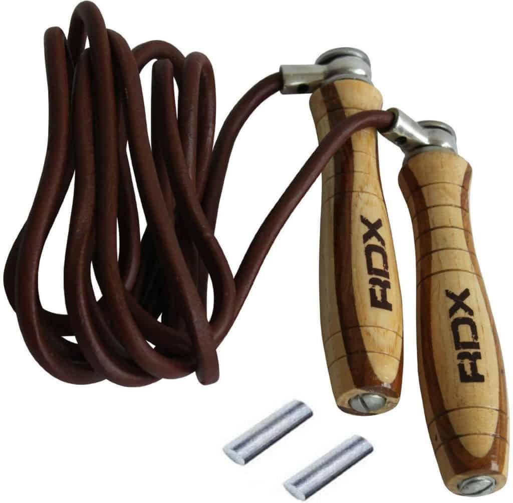 RDX Adjustable Leather Gym Skipping Jump Speed Rope