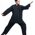 ICNBUYS Men Kung Fu Tai Chi Uniform Cotton Silk
