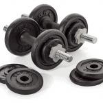 York Fitness 20 kg Cast Iron Spinlock Dumbbell
