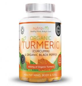 Nutravita Organic Turmeric Curcumin Black Pepper