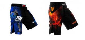 SMAASH SAMURAI MMA Shorts Blue Red Colors