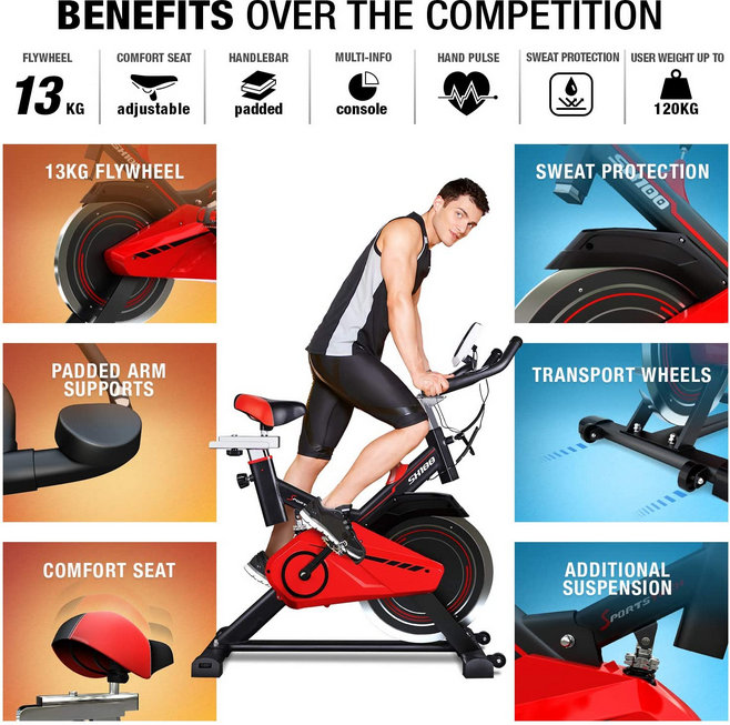 Sportstech Exercise Bike SX100 Features Benefits
