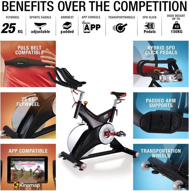 Sportstech Exercise Bike SX500 Benefits